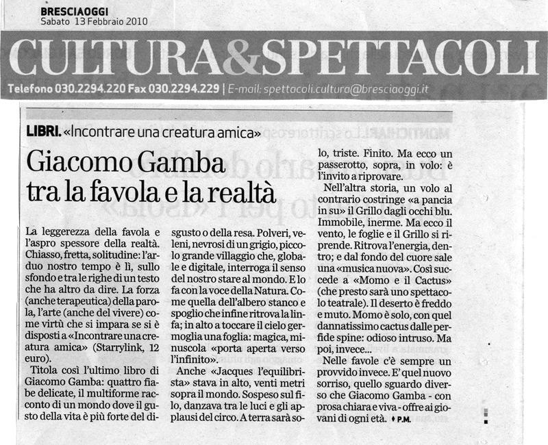 Recensione Fiabe di Giacomo Gamba