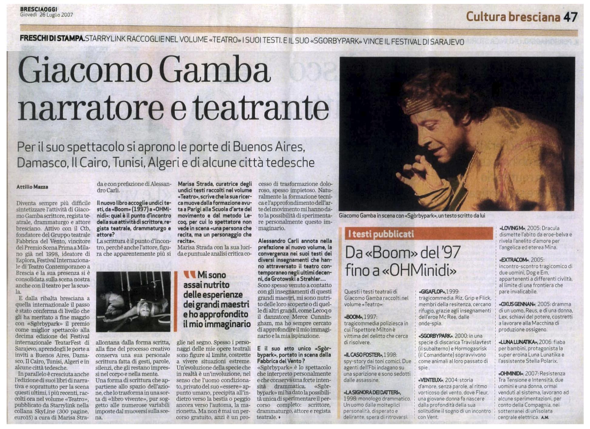 Giacomo Gamba Teatro