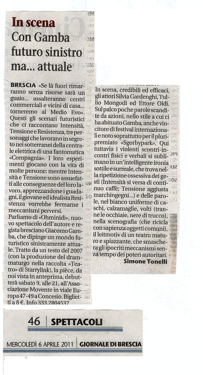 Ohminidi di Giacomo Gamba recensione