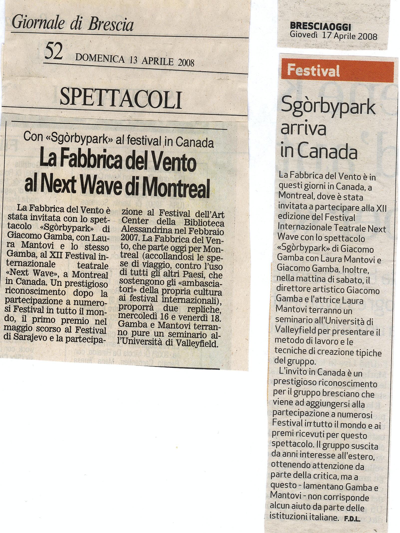 Giacomo Gamba a Montreal
