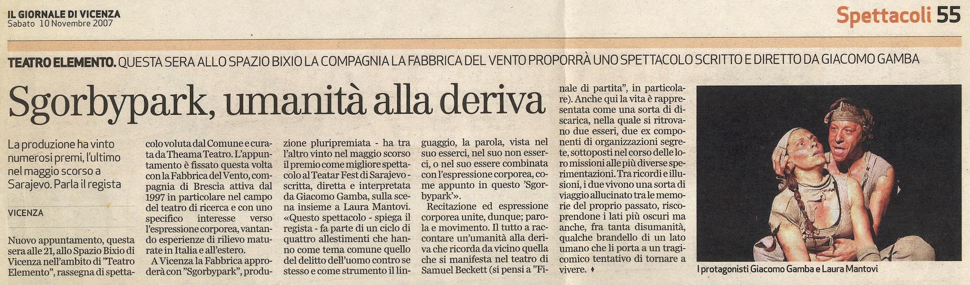 Sgòrbypark di Giacomo Gambaa Vicenza